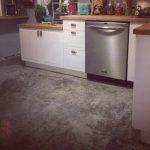 Overlay on kitchen floor