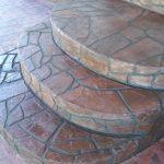 decorative overlay on back steps
